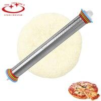 1 ST 4 Verstelbare Discs Rvs Deegroller Verwijderbare Ringen Bakken Deeg Pizza Gereedschap Keuken Bakken Gebak Gereedschap