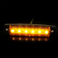 4PCS 6 LED Car Truck Trailer Side Marker Indicators Lights Lamp yellow 12V Light Low Power Consumption Waterproof HOT Styling