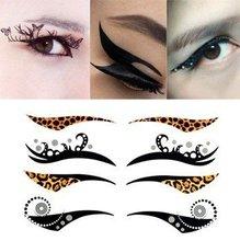 10pcs/lot eye shadow stickers temporary makeup sticker cat tattoo glitter occhio tato make up TaTy