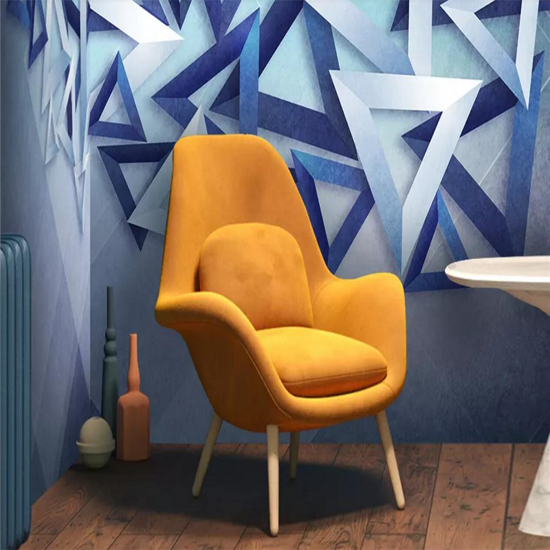 3D triangle modern simple abstract background wall in Fabric Textile Wallcoverings from Home Improvement