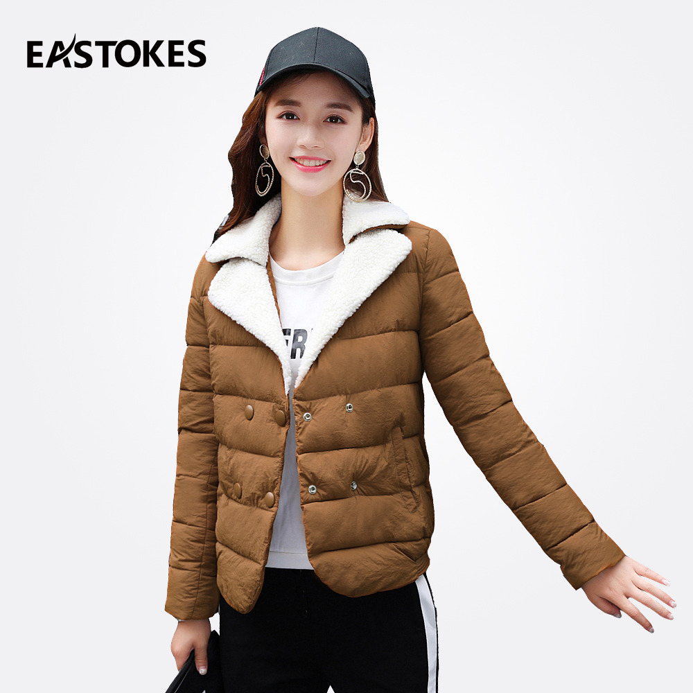Women Lapel Jackets Winter Ladies Short Coats With Flocking Collar Ladies Light-Weight Parkas Women Outfits