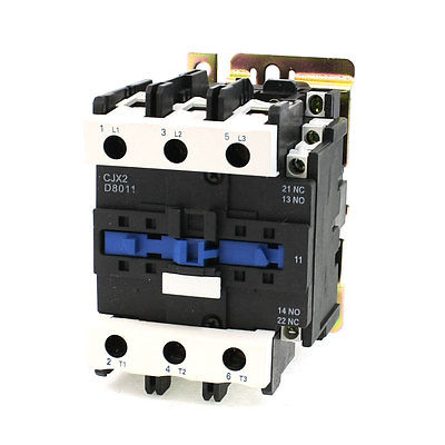 CJX2-8011 LC1 AC Contactor 80A 3 Phase 3-Pole Coil Voltage 380V 220V 110V 36V 24V Din Rail Mount 3P+1NC+1NC Factory Wholesale