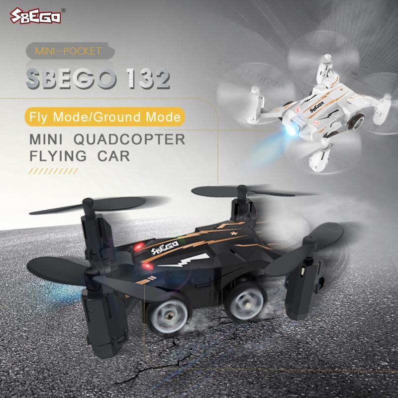 SBEGO 132 Mini Pocket Flying Conception De Voiture 2.4G 4CH 6-axis Gyro 360 Degrés Quadcopter RC Drone RTF