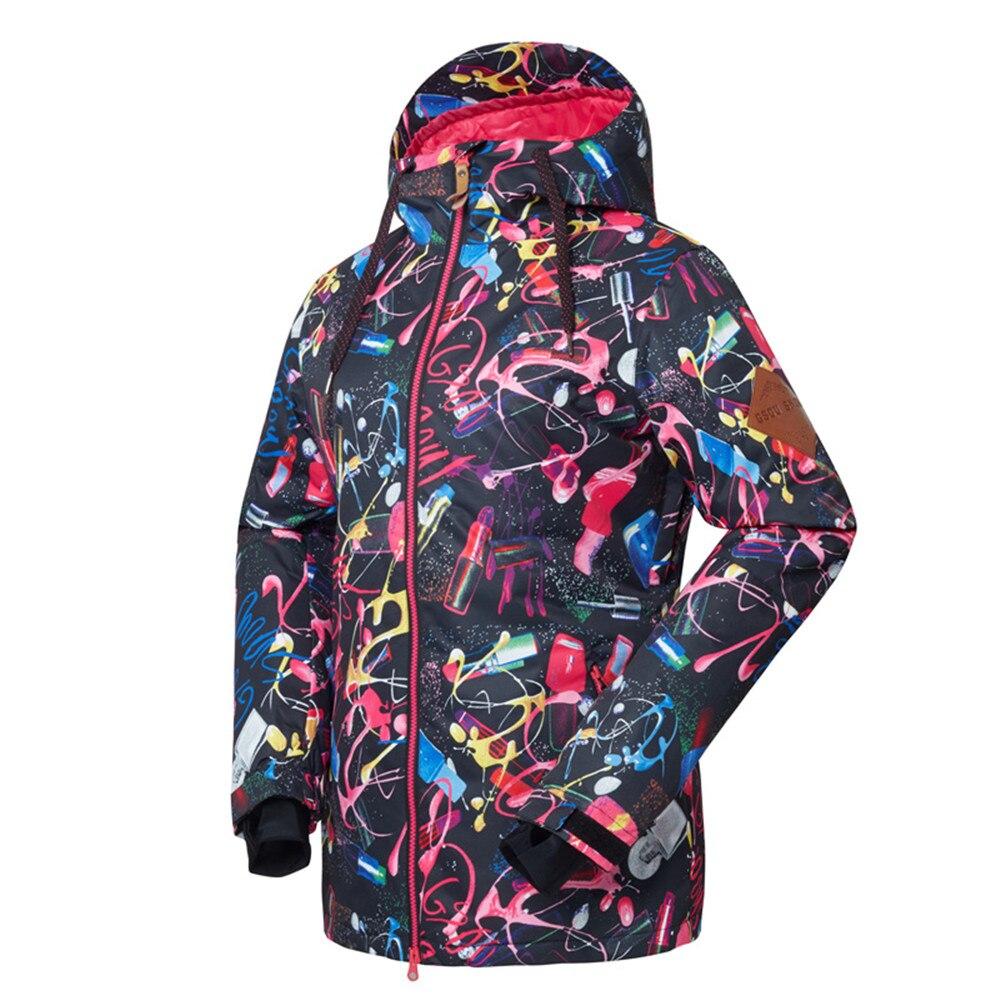 Livraison gratuite vêtements de neige pour femmes Snowboard veste de costume de randonnée extérieure imperméable pour femmes/veste de Snowboard vêtements de Ski