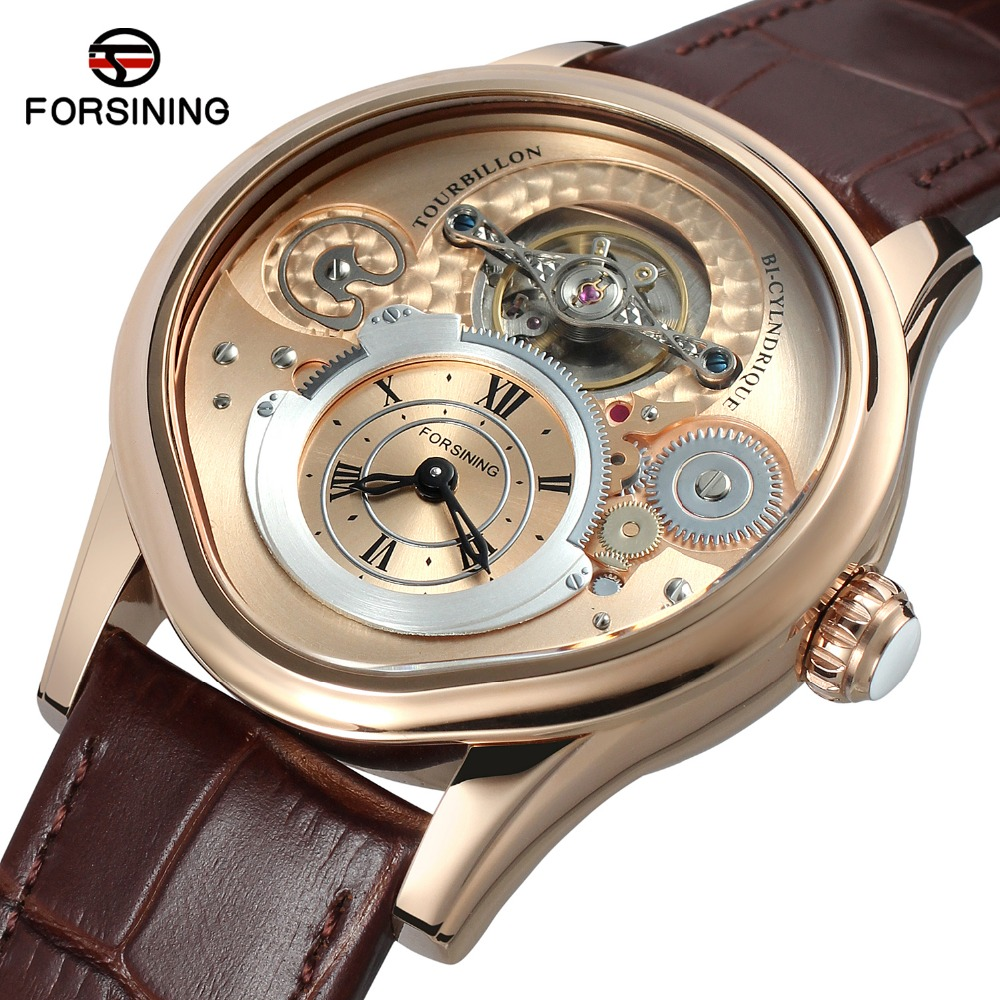 Metal Case Genuine Leather Band Forsining Automatic Watch Men Mechanical Watches Luxury Brand Business Relogios masculino forsining men s watch automatic dress watches plastic band alloy case mechanical wristwatch color deep blue gift box