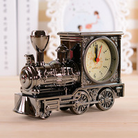 Retro Cartoon Alarm Clock Vintage Stand Train Table Clock Reveil Snooze Digital Clocks For Students Gift