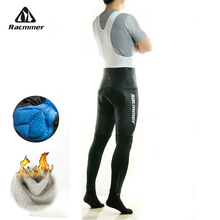 Racmmer Warm 2017 Winter Thermal Fleece Cycling Long Bicycle Bib Pants 3D Gel Pad Bike Bib Tights Mtb Men Ropa Ciclismo #CK-03