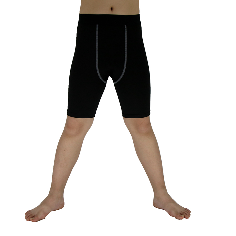 Kids Fitness Shorts High Elasticity Compression Bodybuilding Tights Sweat Wicking Quick  ...