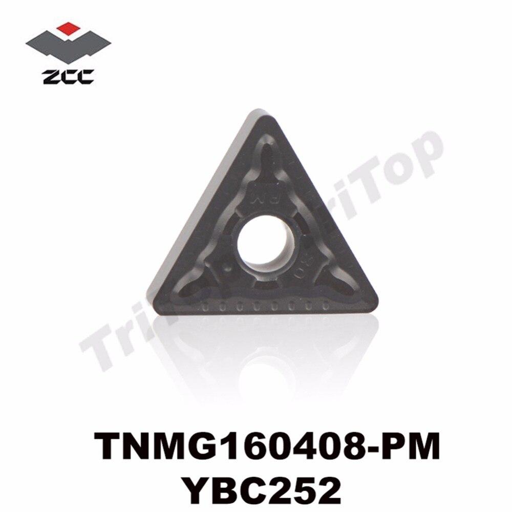 TNMG160408-PM YBC252 ORIGINELE ZCCCT DRAAIINZETTEN TNMG160408 HALFAFWERKING VOOR STAAL TNMG332 GRATIS VERZENDING