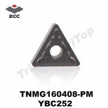 TNMG160408-PM YBC252 ORIGINAL ZCCCT TURNING INSERTS TNMG160408 SEMI-FINISHING FOR STEEL TNMG332 FREE SHIPPING