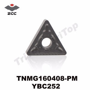 TNMG160408-PM YBC252 ORIGINAL ZCCCT TURNING INSERTS TNMG160408 SEMI-FINISHING FOR STEEL TNMG332 FREE SHIPPING