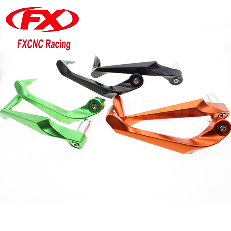 FXCNC CNC Universal Brake Clutch Lever Protective Guards Bar Ends Motorcycles 7/822mm Handle For Kawasaki Honda Suzuki Yamaha fxcnc universal stunt clutch easy pull cable system motorcycles motocross for yamaha yz250 125 yz80 yz450fx wr250f wr426f wr450