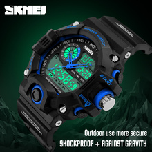 2016 Men Quartz LED Digital Watch Sports Watches SKMEI Brand Fashion Casual Military Waterproof Wristwatches Relogio Masculino