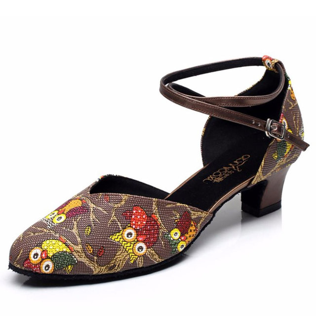 2f661d7c3e US $24.56 30% OFF|Women Ballroom Latin Dance Shoes Salsa Sandals Female  Tango Dance Shoes for Social Party High Heels 5/6/7.5cm 1654-in Dance shoes  ...