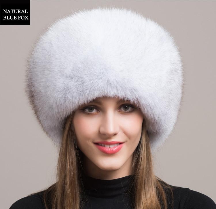 Winter Sexy Vintage Fashion Casual Nieuwe Vrouwen Vrouw Echte Natuurlijke Vos Hoed Warmer YH55 - 3