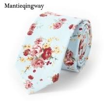 Mantieqingway Business Suits Men's Floral Ties Neckties Gravatas Slim Vestidos Skinny Cotton Ties for Mens Wedding Accessories