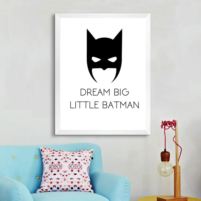 Super Poster Canvas Art Super Here Mask Pop Art Oil Paintings Paint by Number Wall Pictures for Kids Wall Decor No Frame