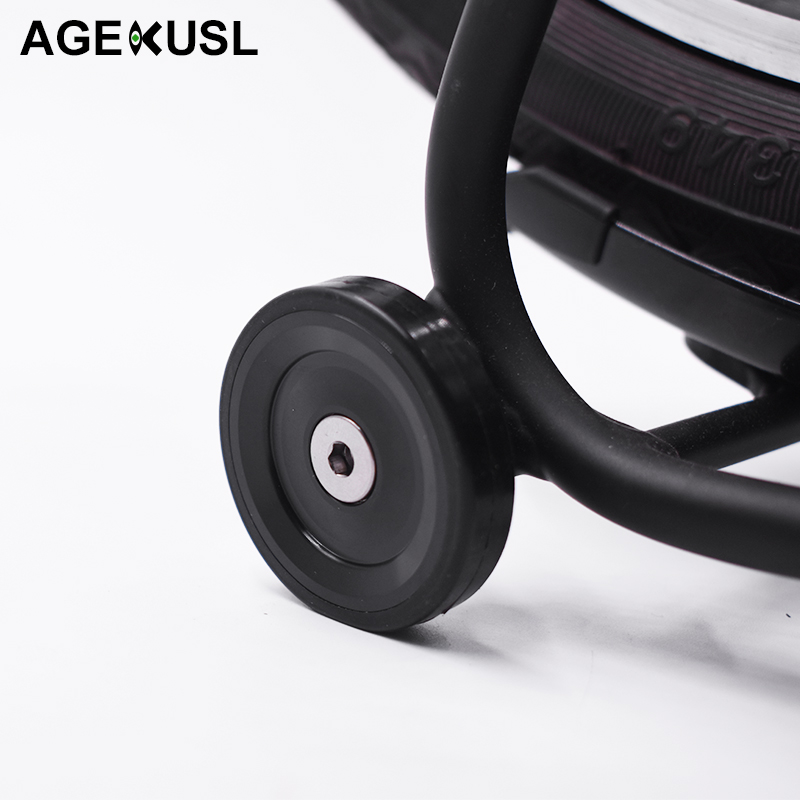 AGEKUSL Bike Wheel Easywheel For Brompton Bearing Wheel Stable Bicycle Light weight 26g Aluminum Wheel Part Easy wheel EZwheelAGEKUSL Bike Wheel Easywheel For Brompton Bearing Wheel Stable Bicycle Light weight 26g Aluminum Wheel Part Easy wheel EZwheel