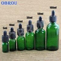 Бесплатная доставка масло для бороды 5 мл 10 мл 15 мл 20 мл 30 мл 50 мл 60 мл 100 мл эфирное масло Упаковка зеленый стеклянный флакон капельница для ли