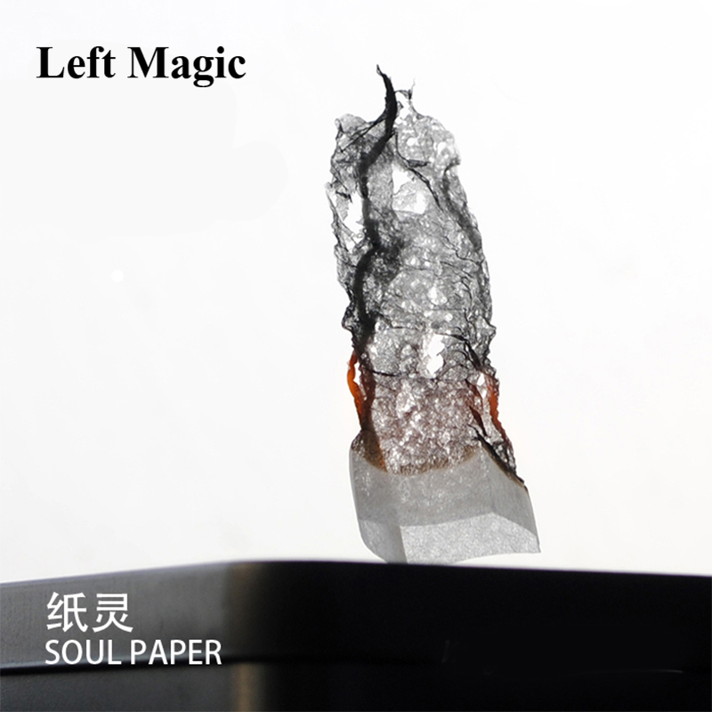 12 Pcs=1pack Soul Paper Will Tsai - Magic Tricks Miracle Prediction Soot Pro Fire Close Up Magic Illusions Stage Magic Comedy