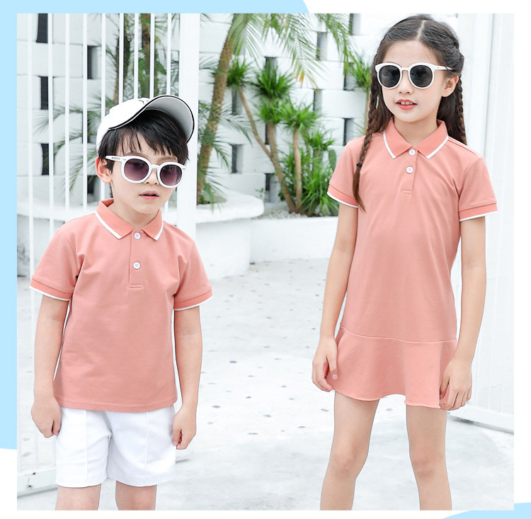 HTB1dKS6Xrj1gK0jSZFuq6ArHpXat - family matching outfits summer Polo shirt mother daughter matching dresses dad son turn down collar family couple clothes