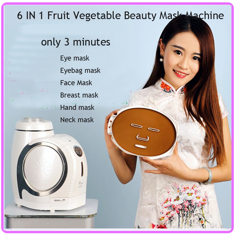 Multifunctional 6 IN 1 DIY Natural Beauty Fruit Vegetable Skin Care Facia Beauty Mask Maker Machine DHL Free Shipping 1 set professional face care diy homemade fruit vegetable crystal collagen powder facial mask maker machine skin whitening