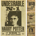 Harry Potter Wanted Order Undesirable No.1 Vintage Retro Kraft Poster Decorative DIY Wall Stickers Home Bar Posters Decor Gift