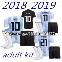 53cebc09ccb 2018 2019 Argentina shirt adults kit T-shirt Camisa men shirts Best Quality  adult kit Messi DYBALA Casual 2018 Argentina T-shirt