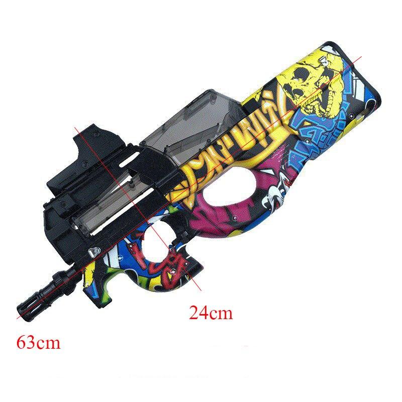 P90 Graffiti Édition jouet électrique PISTOLET balle en eau Éclate Pistolet CS Live D'assaut Snipe Arme En Plein Air Pistolet Jouets - 6
