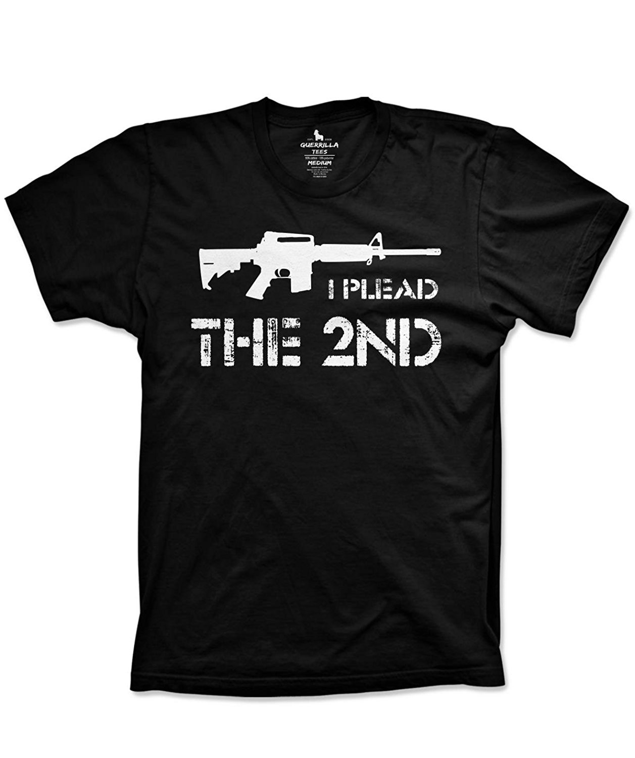 2019 Hot sale Fashion Plead the second <font><b>tshirt</b></font> <font><b>funny</b></font> <font><b>tshirt</b></font> NRA shirt right to bear arms Tee shirt image