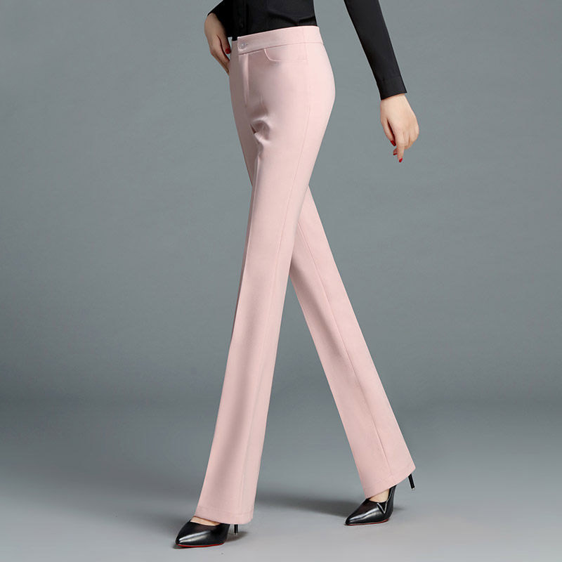 2018 Spring New Women Pants High Quality Bottom Professional Suit Formal Pants Flare Pants T34