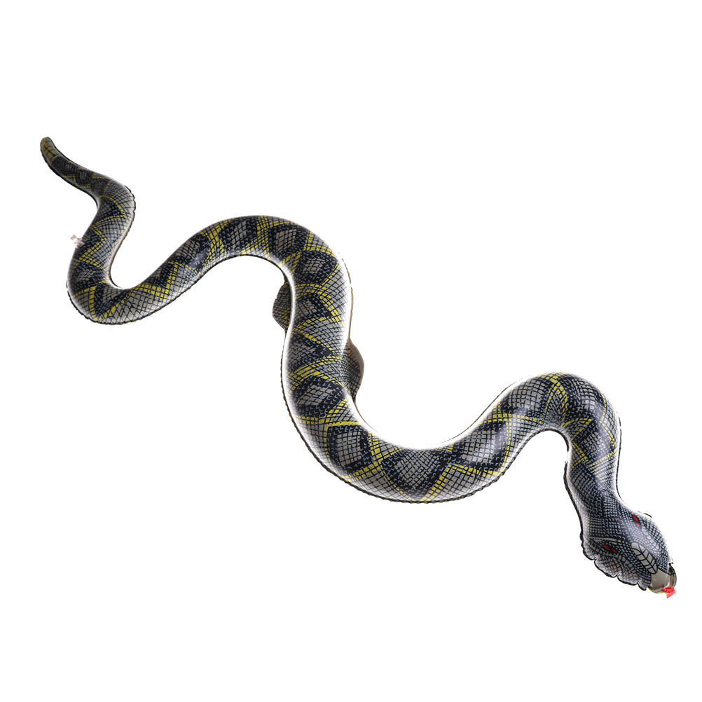 Sweet-Tempered Pvc Snake Shape Inflatable Toys 100cm Surprise Joke Toys Funny Gift Products For Shocker Fun Scary Snake Toy Gags & Practical Jokes
