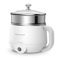 Multifunctional Electric Hot Pot Electric Food Steamer Heating Cup Stainless Steel Rice Cooker Steamer Food Cooker 220V