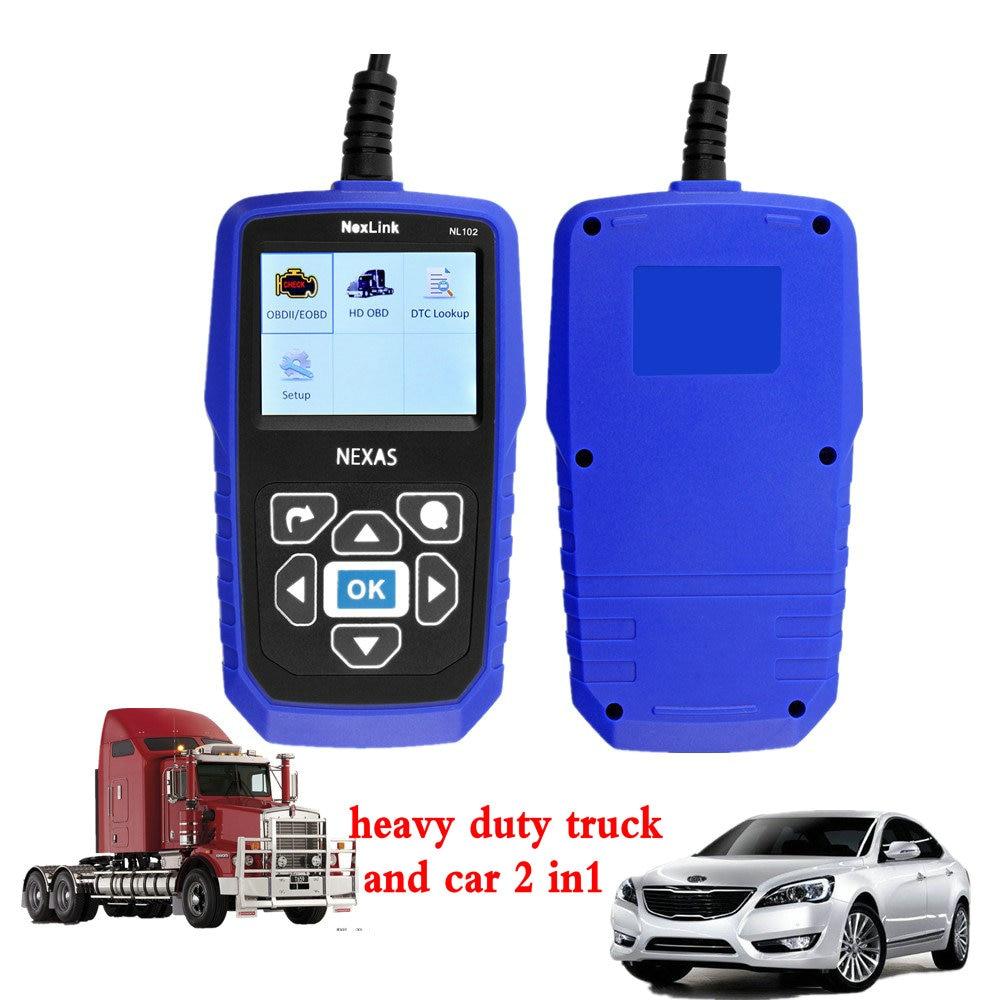 best heavy duty truck automotive diagnostic scanner NexLink NL102 diesel engine diagnostic font b tools b