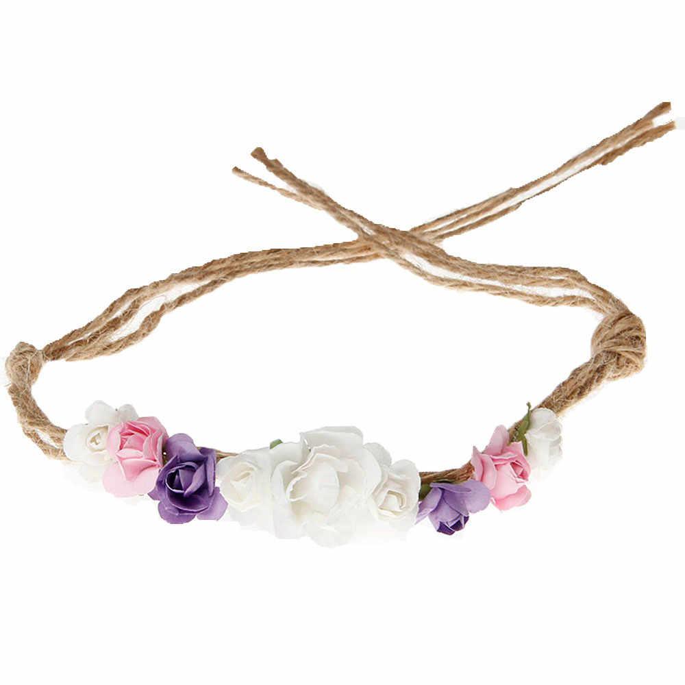 Saç aksesuarları bebek kız erkek çiçek taç 1st doğum günü partisi şapka bantlar Hairband şapkalar Haar Accessoires