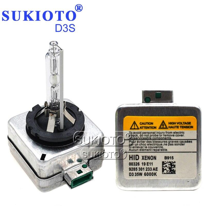 SUKIOTO D1S 55W Xenon 5000K D2S D3S D4S D1R D2R D4R 35W xenon Car lights 4300K 6000K 8000K D1S 6614066144 HID Headlight Bulbs