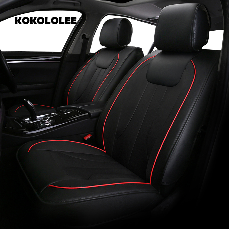 KOKOLOLEE pu leather car seat cover for Mitsubishi Renault Nissan Suzuki Smart car accessories auto styling Automobiles covers universal pu leather car seat covers for chevrolet cruze captiva trax lova sail auto accessories car styling auto stickers