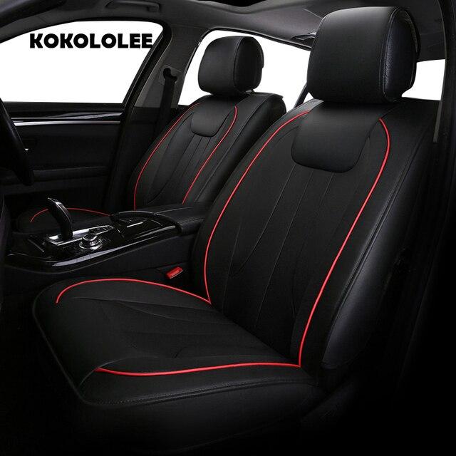 KOKOLOLEE Pu Leather Car Seat Cover For Mitsubishi Renault Nissan Suzuki Smart Accessories Auto Styling