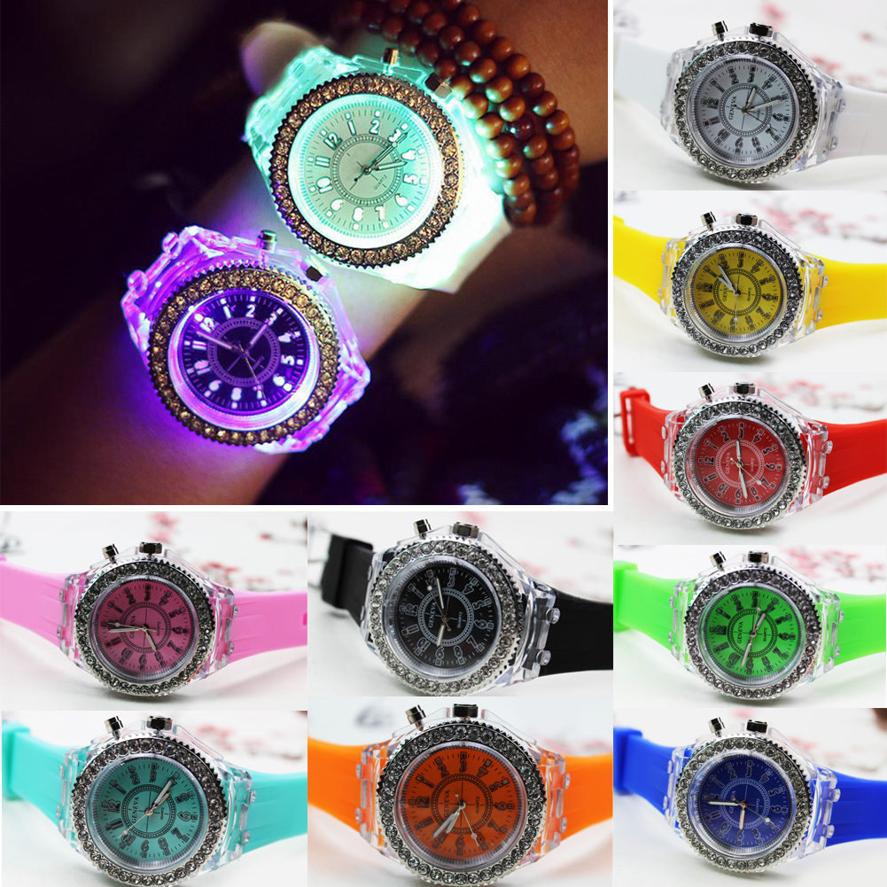 Fashion LED Luminous Lights Electronic Watch Hot Women Men Quartz Wirst Watch Casual Student Clock Watch for Kids Students Gift 1