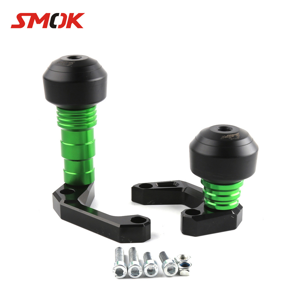 SMOK Motorcycle CNC Falling Protectors Body Frame Slider Anti Crash Pad Swingarm Spools Slider For Kawasaki Versys 650 2015-2016