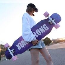 Longboard Highway Four Wheel Scooter Teen Boys and Girls Dance Board Adults Beginner Web Skateboarding