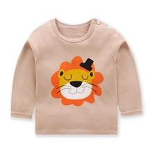 Детская одежда с мультяшным животным принтом; Модные топы для маленьких мальчиков; Осеннее нижнее белье для маленьких девочек