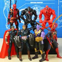 Marvel Avengers Venom Red Venom Carnage Deadpool Action-figur Loki Ant-Mann Vision Schwarz Panther Captain Marvel Figuras Spielzeug