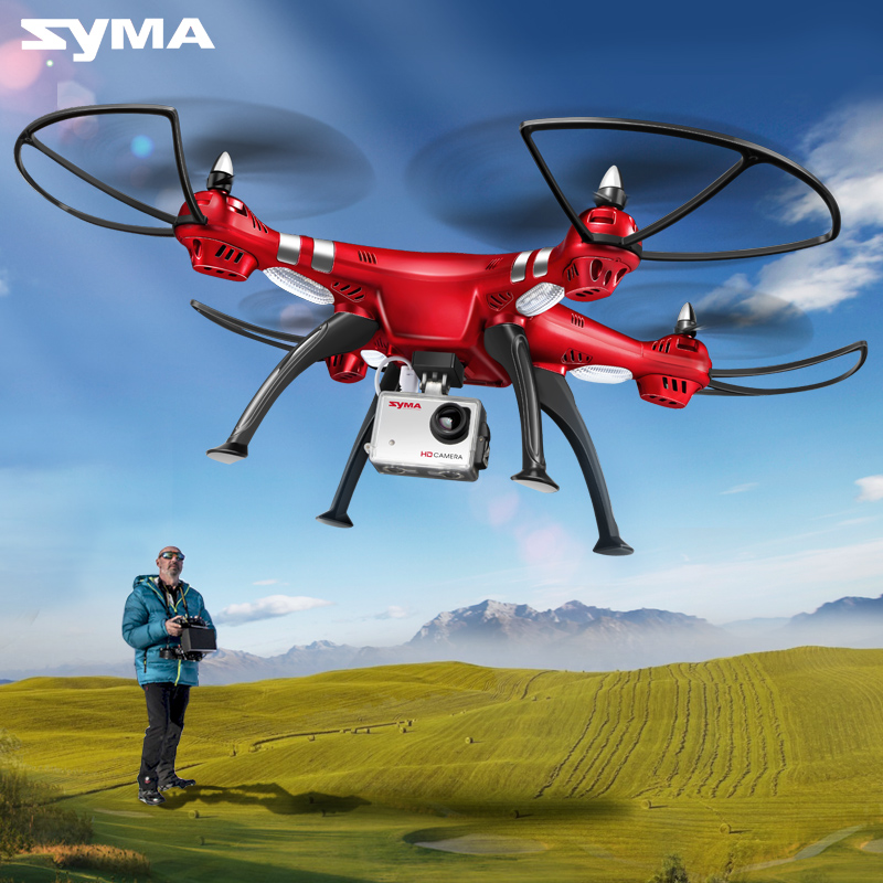 SYMA professionnel aéronef sans pilote (UAV) X8HG X8HW X8HC 2.4G 4CH RC hélicoptère Drones 1080P 8MP HD caméra quadrirotor (SYMA X8C/X8W/X8G mise à niveau)