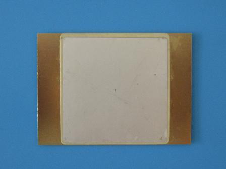 Parallel rectangular bimorph piezoelectric ceramic sheet: 50mmx50mm, substrate: 70mmx50mm