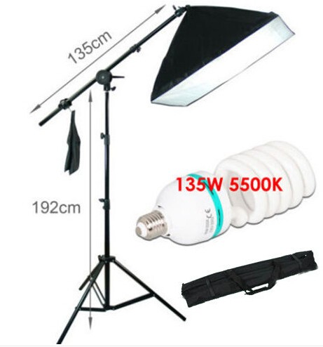 135W 5500K Photography Softbox Continuous Photo Lighting Kit with Adjustable light stand for Photography Studio or Youtube