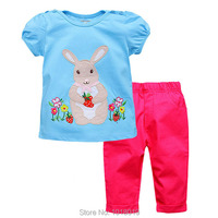 Brand Quality 100 Woven Cotton Summer Baby Girls Clothing Sets Children Suit Kids Clothing Baby Girls