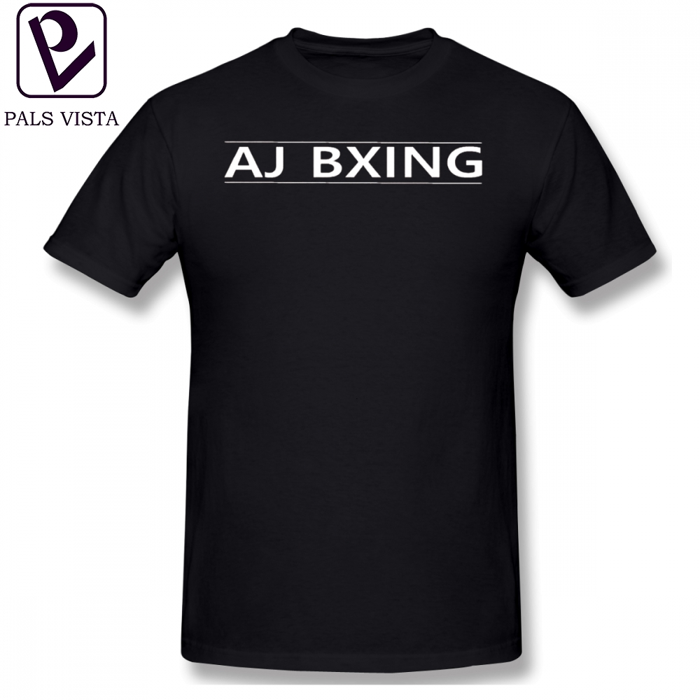 662b7f65e550a Anthony Joshua T Shirt AJ BXING WHITE AND BLACK T-Shirt Summer Funny Tee  Shirt Short Sleeves Plus size Men Graphic Cotton Tshirt