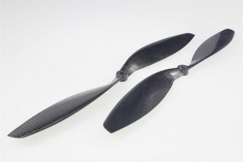 F05302 1pair 12x3.8 3K Carbon Fiber Propeller CW CCW 1238 CF Props For RC Quadcopter Hexacopter Multi