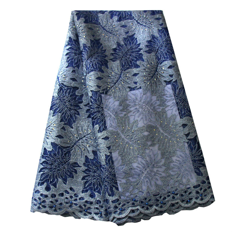 Ourwin Latest New African Lace 2019 Blue Silver Lace Fabric Nigeria Wedding Lace Fabric Embroidery High Quality Tulle Net LacesOurwin Latest New African Lace 2019 Blue Silver Lace Fabric Nigeria Wedding Lace Fabric Embroidery High Quality Tulle Net Laces